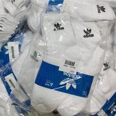 KUMO SHOES- Adidas Trefoil quarter socks 三葉草 LOGO 中筒襪 白 白黑 國外款