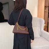 法棍包高級感小包包女2020春季新款時尚百搭鱷魚紋法棍包法國小眾側背包 雲朵走走