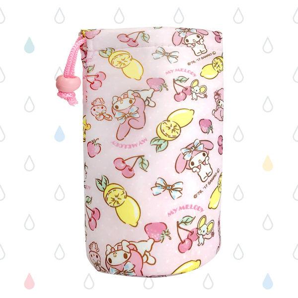 日本 美樂蒂保冷水壺套 卡通造型 方便攜帶 收納袋 日本進口正版 573603