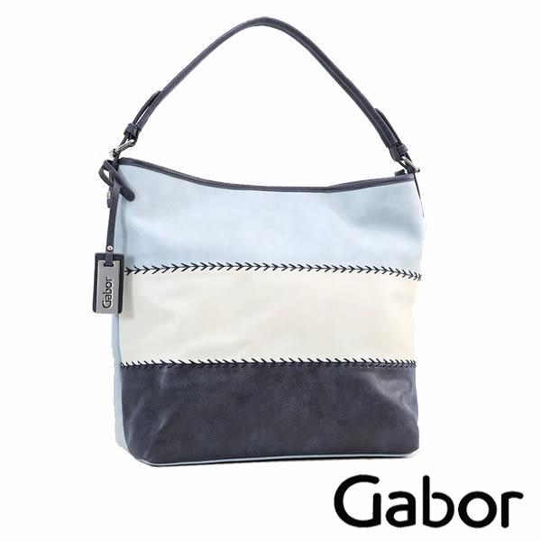 德國GABOR 拼接單肩側背包 藍 7656-50