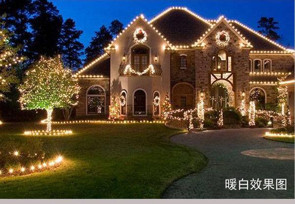 促銷LED聖誕燈 10米100燈 110V 防水燈串 聖誕樹 非冰條燈 流星燈 耶誕燈 流星燈 帳篷燈