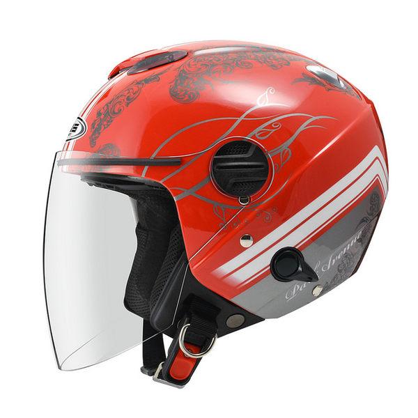 【 ZEUS ZS 202FB T49 大紅 內襯全可拆洗 瑞獅 安全帽】雙層鏡片、免運費
