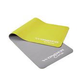 Wonder Core TPE彈性防滑瑜珈墊-(檸檬綠灰/6mm)