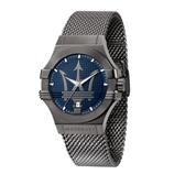 MASERATI 瑪莎拉蒂 米蘭精鍍黑鋼腕錶42mm(R8853108005)