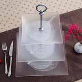 歐式客廳多層玻璃水果盤子果盤雙層點心零食盤三層蛋糕架托盤家用 初色家居館