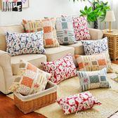 新品全棉帆布卡通布藝沙發抱枕枕套辦公室車用靠背靠墊含芯 莫妮卡小屋 igo