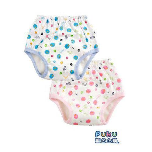 【奇買親子購物網】PUKU 印花練習褲(藍/粉)