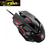 T.C.STAR 連鈺 TCN194BK 黑白雙煞彩光Gaming電競光學滑鼠 (黑)