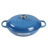 Le Creuset 壽喜燒鑄鐵鍋 淺鍋 30cm 3.2L 馬賽藍 法國製