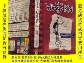 二手書博民逛書店Diary罕見of a Wimpy Kid: 一個懦弱孩子的. 日記Y200392