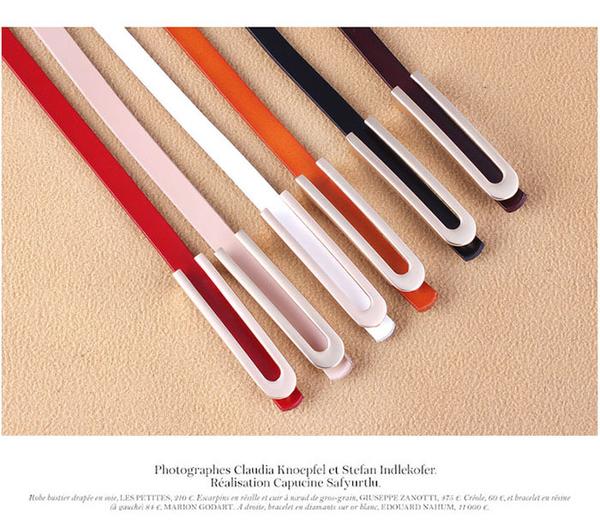 腰鏈皮帶 素色 牛皮 細腰帶 金屬 造型 釦頭 百搭 皮帶 腰帶【NRA-25】 icoca  06/20