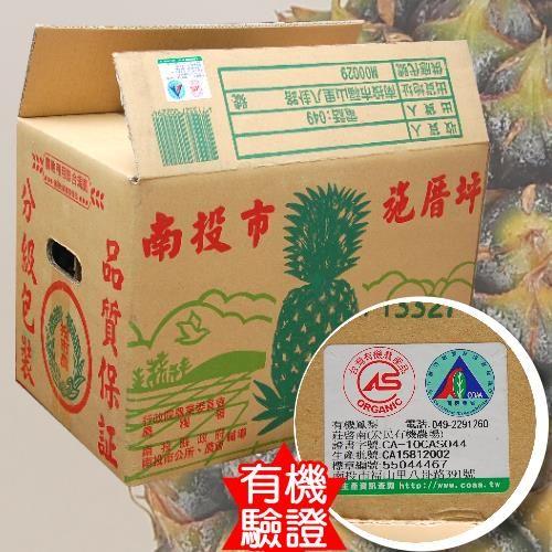 有機金鑽鳳梨6~9粒(共15台斤)-無生長激素 讓您吃的安心