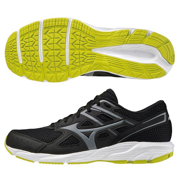 MIZUNO SPARK 6 男鞋 慢跑 健走 輕量 耐磨 黑黃【運動世界】K1GA210352