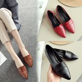 丁果、大尺碼女鞋34-43►2018春新款英倫風舒適 尖頭粗中跟小皮鞋紳士鞋鞋*3色