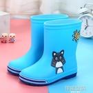 兒童雨鞋 兒童卡通雨靴寶寶防水防滑男童雨鞋可愛小孩女童耐磨學生加絨水鞋