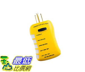 測試儀 Sperry Instruments HGT6520, Stop Shock II - Single LED Indicator, GFCI Outlet Tester