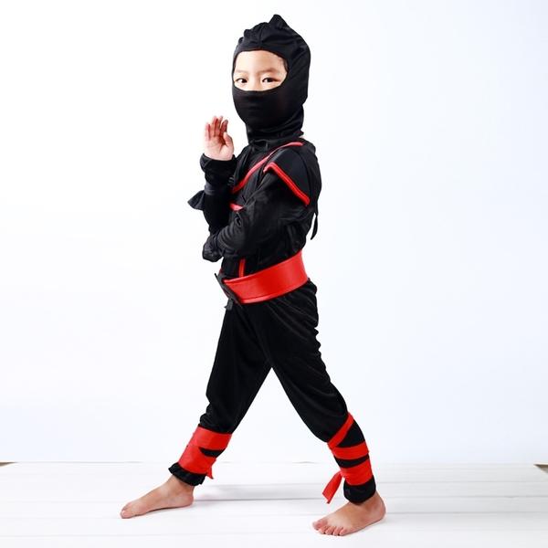 萬聖節服裝 日本忍者 造型服 忍者 橘魔法 現貨 男童 萬聖節 角色扮演 節慶 cosplay