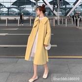 风衣外套 秋季新款韓版寬鬆氣質女神范風衣女小個子中長款百搭流行外套 星河光年