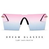 歐美時尚太陽鏡 創意個性連體片墨鏡 太陽眼鏡【五巷六號】y6