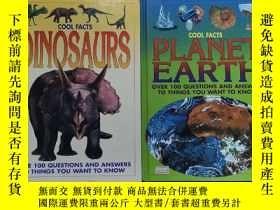 二手書博民逛書店英文原版罕見cool facts dinosaurs+planet earthY254456 ISBN:9