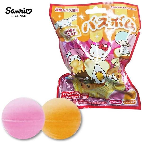 兩入一組【日本正版】三麗鷗人物 麵包造型 沐浴球 草莓/柳橙香氛 泡澡劑 泡澡球 款式隨機 - 323748