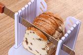 烘焙工具吐司面包切割器切片刀家用面包機切片架鋸齒刀分片器套裝