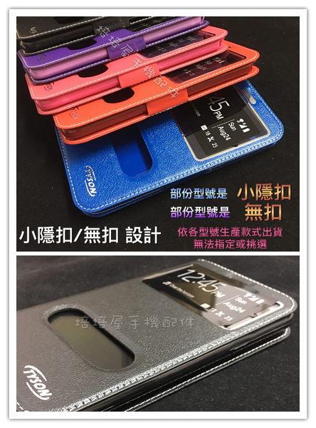 Apple iPhone SE/iSE《雙視窗小隱扣/無扣側掀翻皮套 免掀蓋接聽》手機套保護殼書本套保護套手機皮套