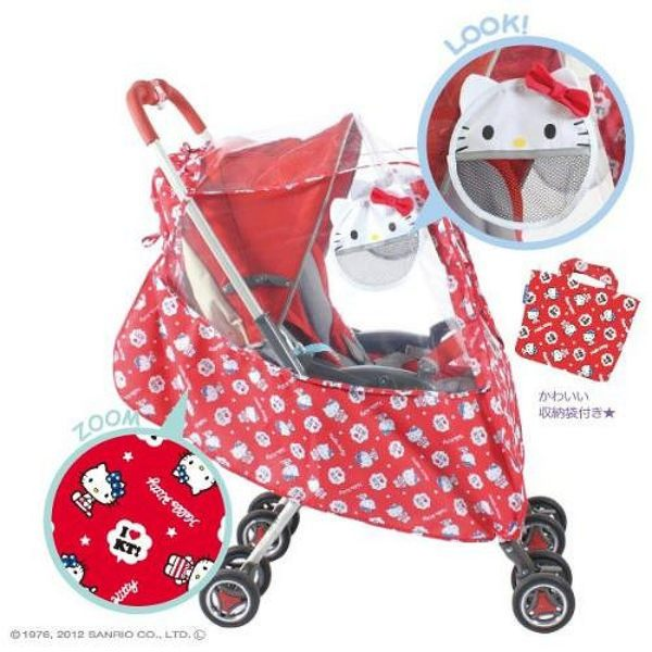 【震撼精品百貨】Hello Kitty 凱蒂貓~ 嬰兒車用雨罩