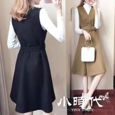 套裝裙 時尚毛呢套裝女連衣裙潮秋冬名媛氣質時髦洋氣兩件套