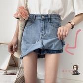 褲裙 女夏裝韓版chic高腰a字褲裙學生顯瘦半身裙毛邊流蘇牛仔短裙 S-L