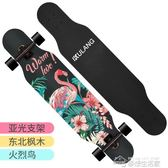 長板公路四輪滑板車青少年男女生舞板成人初學者滑板YYJ  夢想生活家