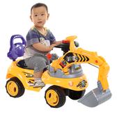 兒童玩具挖掘機可坐可騎寶寶大號挖機音樂工程學步車男孩挖土機 鉅惠85折