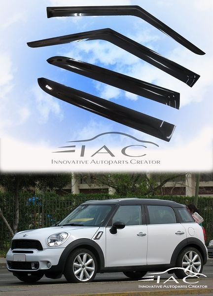 Mini Coopr Countryman 10-16 R60台製晴雨窗 【IAC車業】