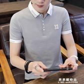 夏季男裝短袖polo衫男青年翻領半袖T恤有領純棉修身體恤潮流丅桖 果果輕時尚