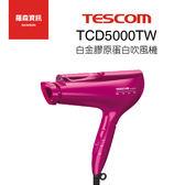 TESCOM TCD5000 TCD5000TW 白金 膠原蛋白 負離子 奈米 吹風機 日本製 群光公司貨 粉色