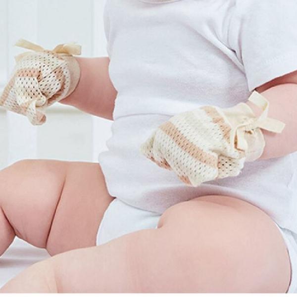 2雙組 新生兒 防抓手套 精梳棉寶寶護手套 柔軟 嬰兒用品【JB0099】