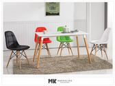 【MK億騰傢俱】CS978-1L安怡4尺白色西餐桌椅組(桌*1、椅*4)