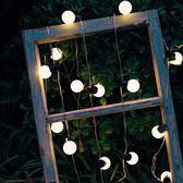 婚禮彩燈  220V  復古LED圓球小燈泡串燈彩燈婚禮裝飾庭院節日派對婚慶戶外防水燈 玩趣3C
