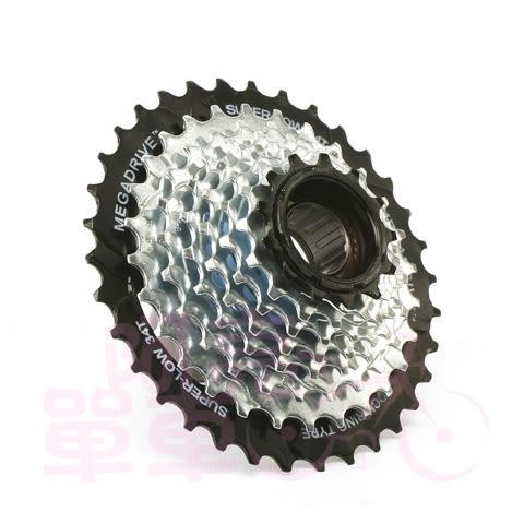 *阿亮單車*SunRace megadrive 自行車8速鎖牙式飛輪,13~34T,銀色《A16-530》