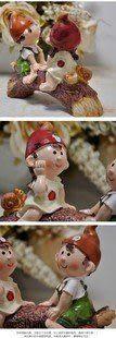 田園樹脂娃娃/婚慶工藝品擺件