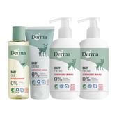 有機 低過敏 丹麥 Derma 寶寶系列 - 護膚霜家庭號特惠組A