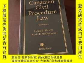 二手書博民逛書店Canadian罕見Civil Procedure Law (f