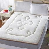 睡墊墊被寢室單件兩用榻米羊羔絨床墊tw
