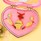 EZGOLD-可愛小甜心-彌月金飾音樂禮盒 (1.00錢)