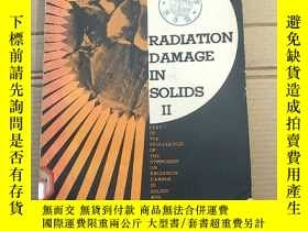 二手書博民逛書店radiation罕見damage solids II(P1987)Y173412