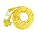 丹大戶外用品 動力線60尺-附燈2*2C(黃色)延長線 電線 電源 台灣製造/檢驗合格