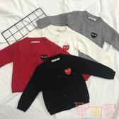 親子裝開衫外套棉線針織外套兒童棉線毛衣針織衫【聚可愛】