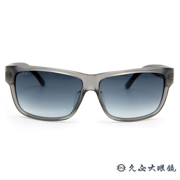 GUCCI 墨鏡 GG1007FS TYPJJ (透灰) 方框 太陽眼鏡 久必大眼鏡
