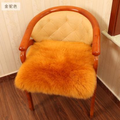 澳洲羊皮懶人沙發坐墊羊毛椅墊羊皮毛一體坐墊加厚地毯墊冬季椅墊 夢藝家