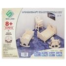 DIY木質3D立體拼圖 G-P010 床4件組/一個入(促49) 中2片入 模型家具 四聯組合式拼圖 3D立體拼圖-鑫